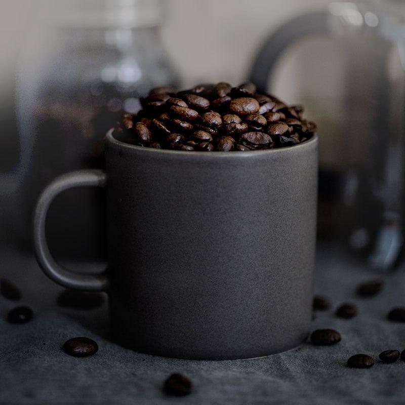Krus kaffebønner